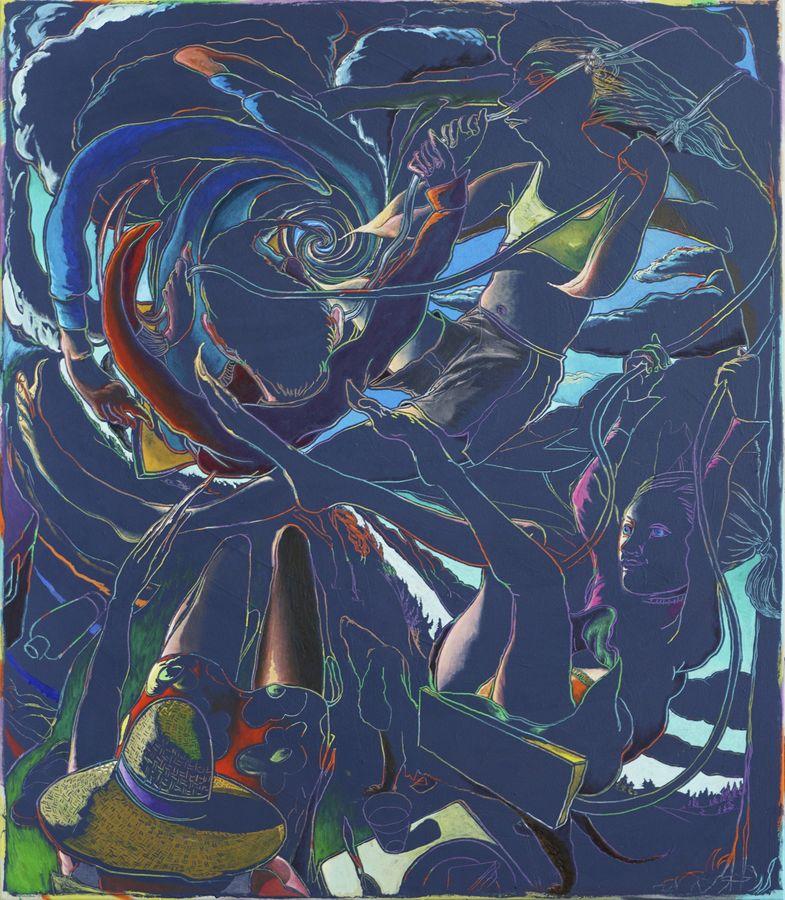 Arno Bojak | Sommerloch, 160 x 145 cm, Acryl auf Nessel, 2018_web