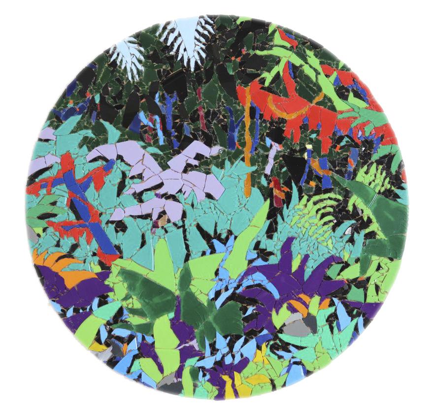 Willi Tomes | Jungle Dust, 2018, Vinyl auf Holzplatte, 39,5 x 39,5 cm