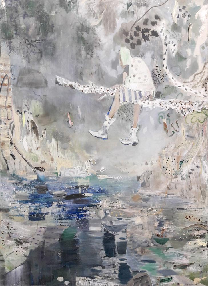 Kevin A. Rausch| Alles nur Theater, 180 x 130 cm, 2017, Mischechnik / Lw