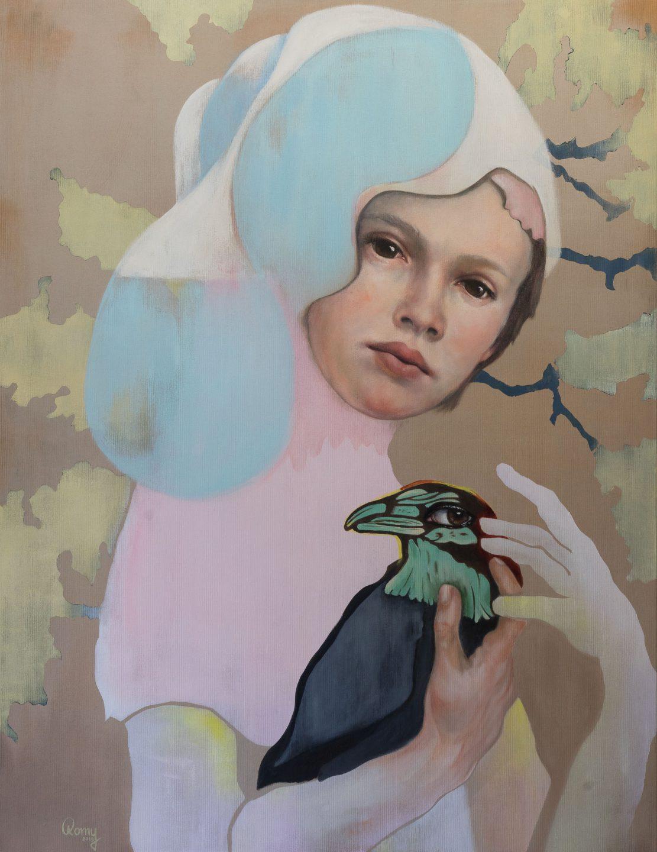Romy Campe | Behütet, 130 x 100 cm, Öl und Acryl auf Leinwand