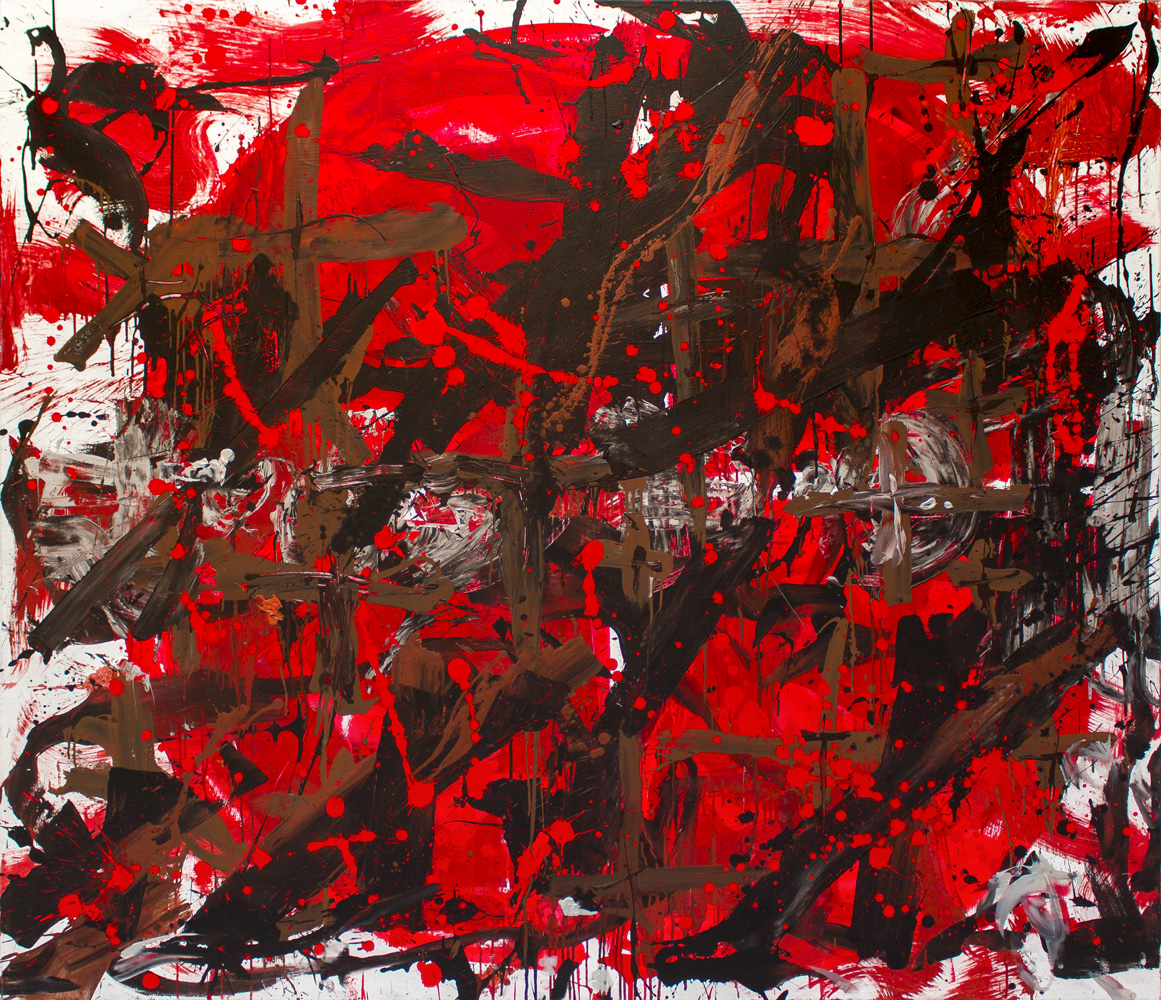 ter Hell - OT2, 190 x 220 cm, 2008, Mischtechnik auf Leinwand