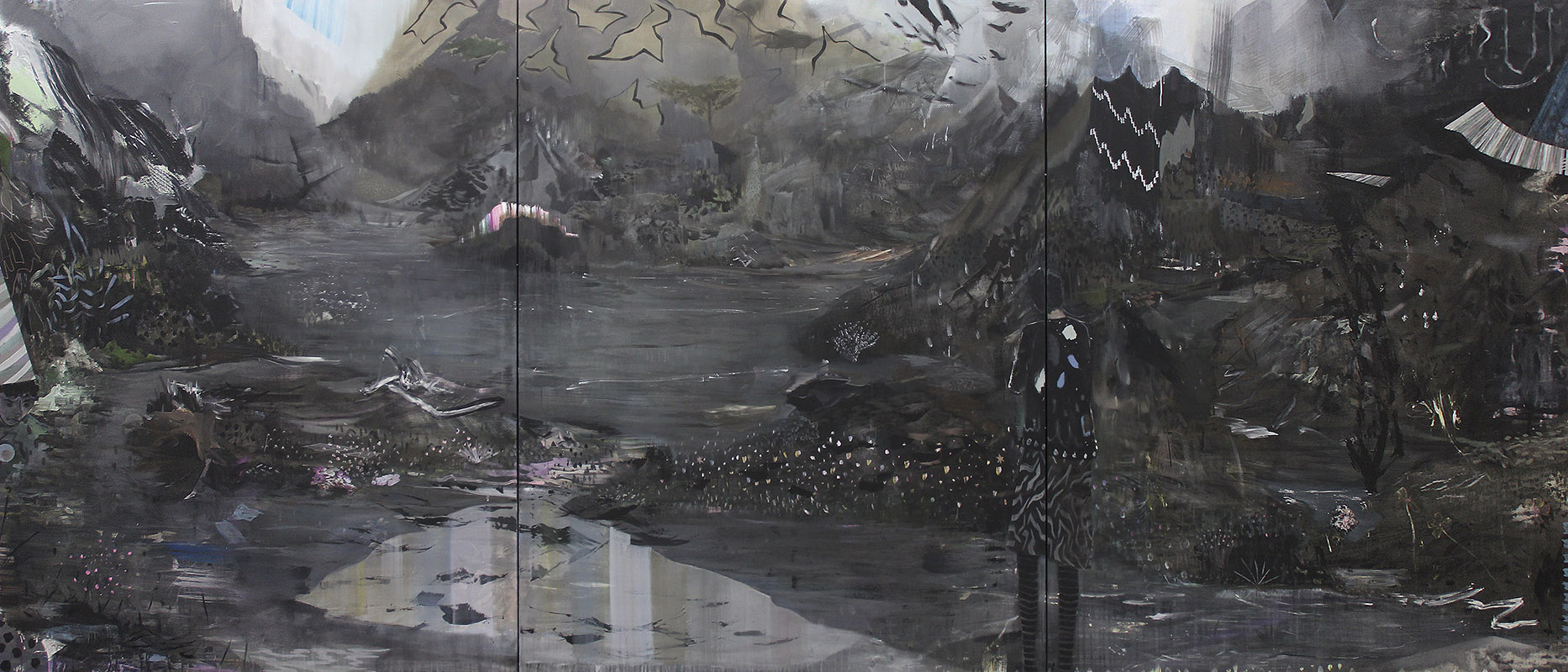 Kevin A. Rausch – Silence Is Closer (Triptychon), 195 x 450 cm