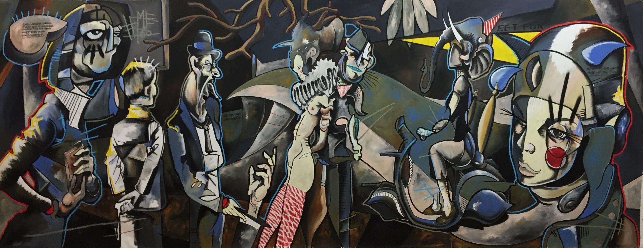 Daniel Harms | The Colour of Honey, Öl auf Leinwand, 2016, 212 x 530 cm