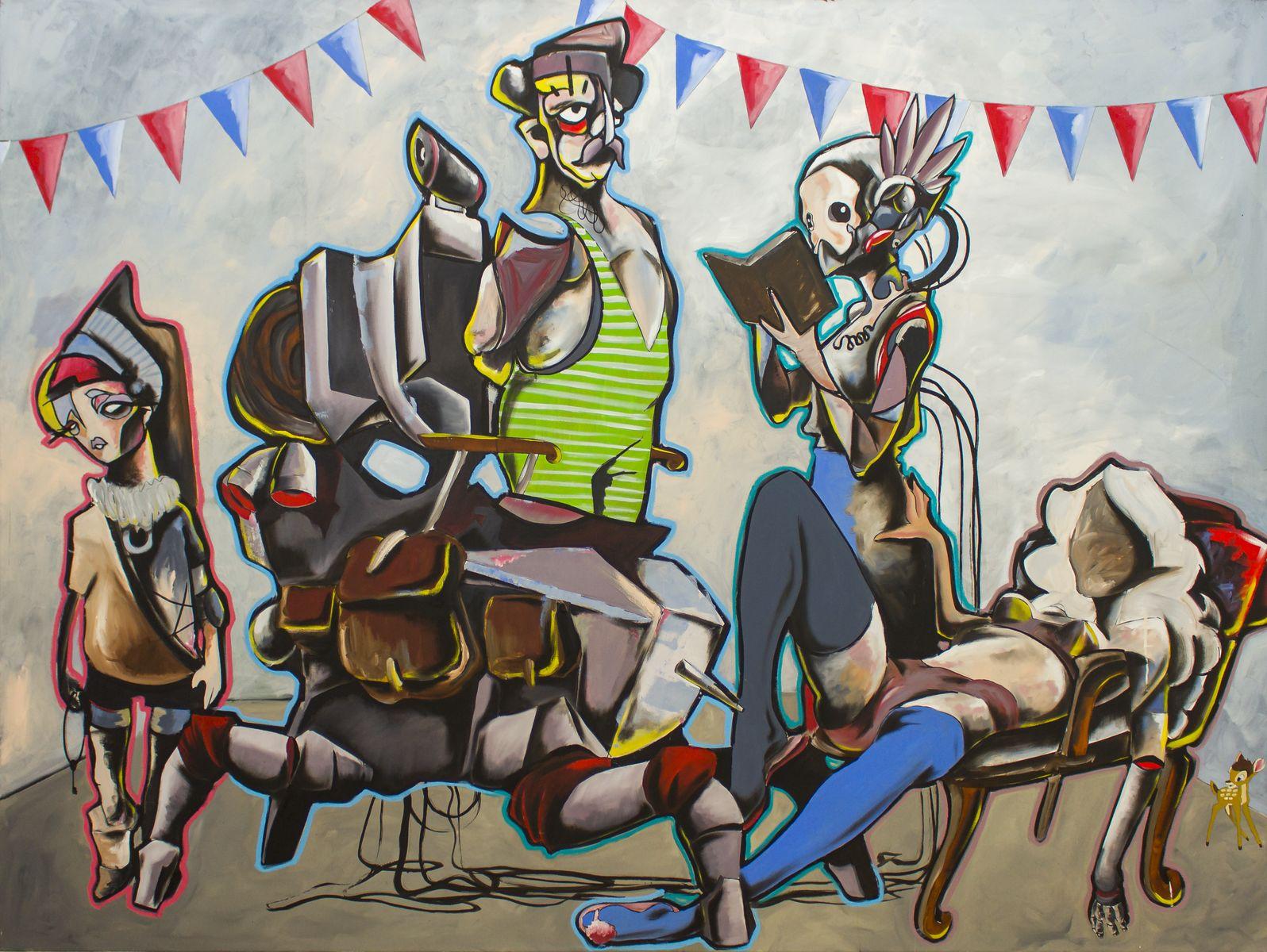 Daniel Harms | Babylon, Acryl auf Leinwand, 2019, 180 x 240 cm