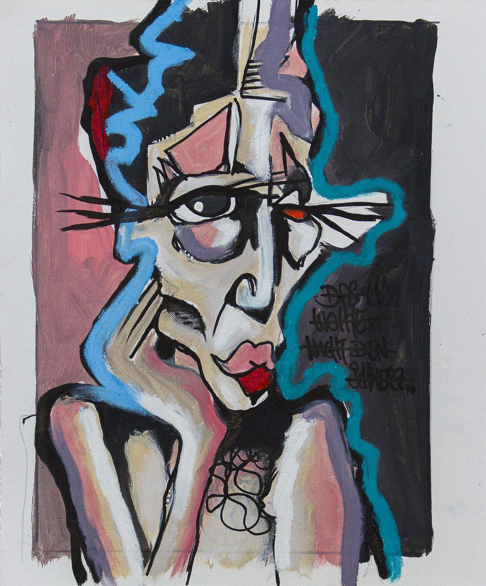 Daniel Harms | Das Her, Öl / Leinwand, 2019, 40 x 30 cm