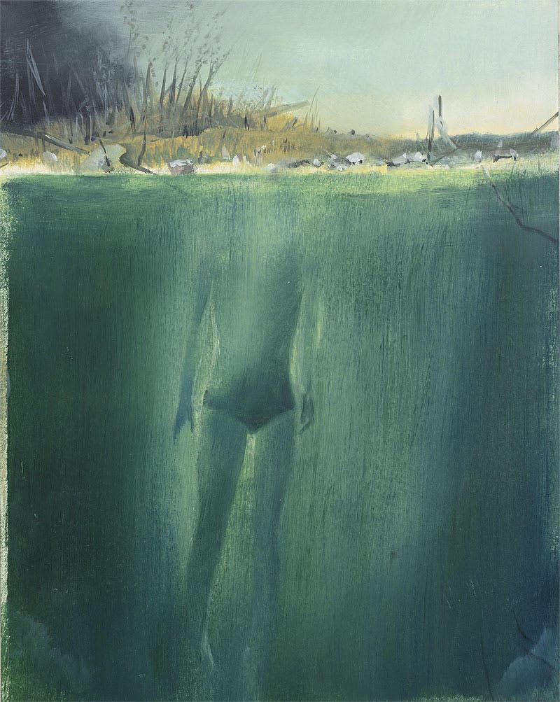 Thomas Ritz | O.T. – KatNr 2020-1024, 26 x 21 cm, Öl auf Papier