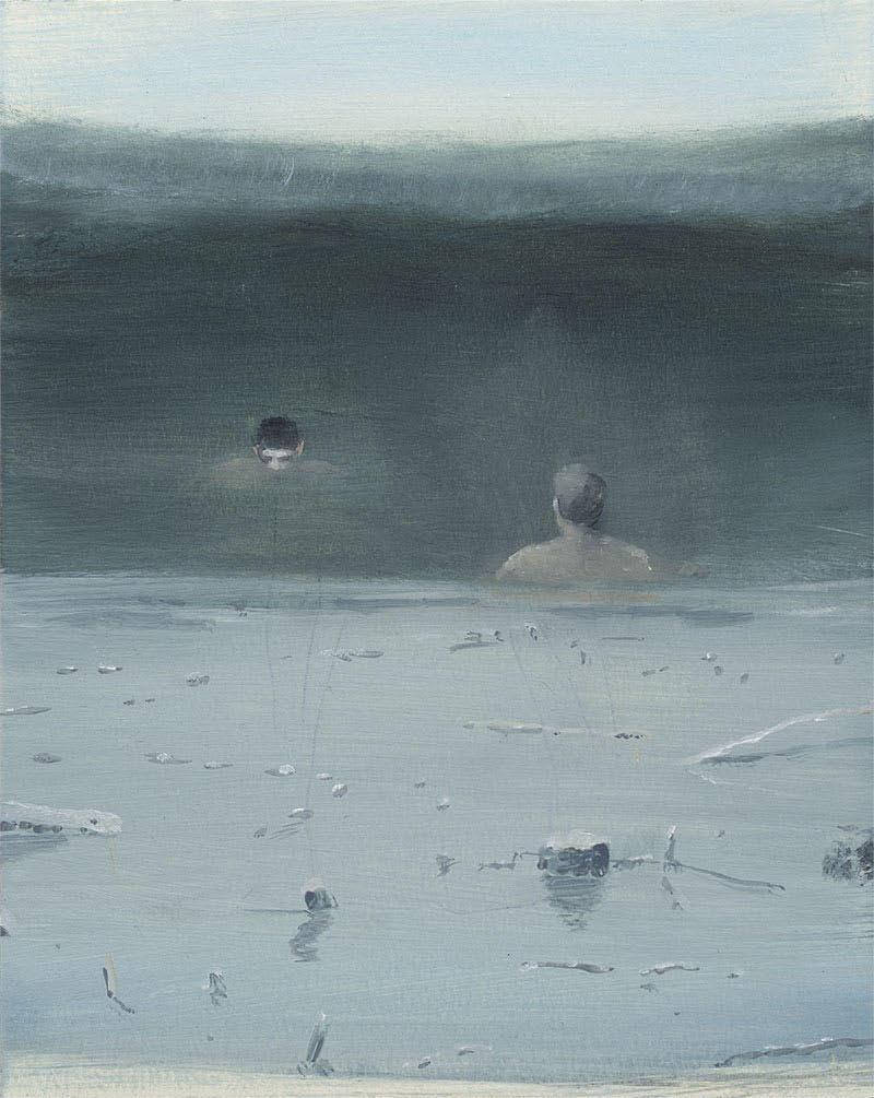 Thomas Ritz | O.T. – KatNr 2020-1046, 26 x 21 cm, Öl auf Papier