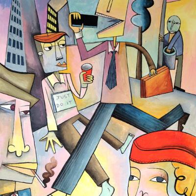 City Life, 2020, 60 x 115 cm
