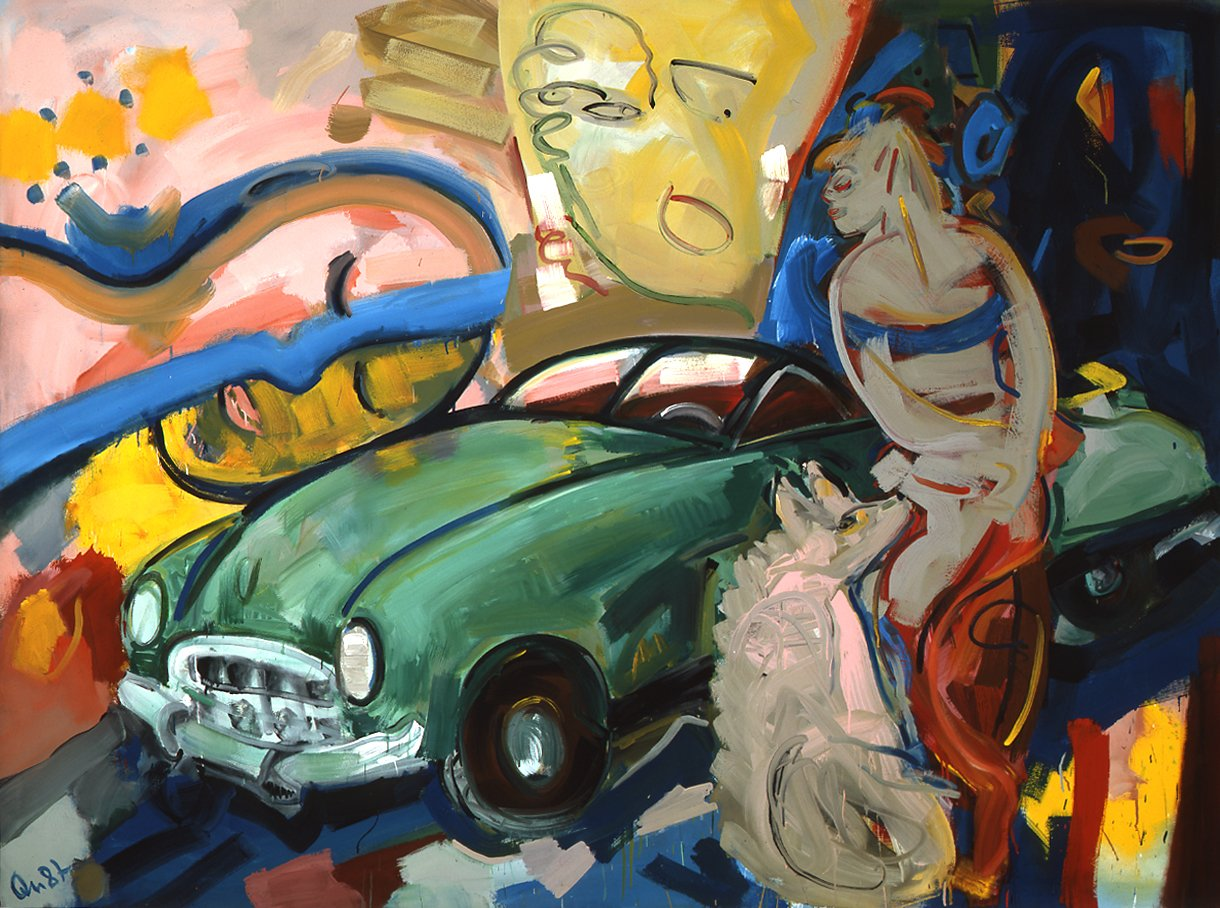 Barbara Quandt | Wake up sleeping man, 1987, Acryl auf Leinwand, 170 x 224 cm