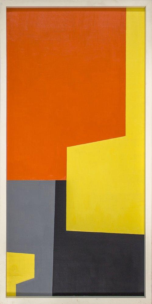 Christian Roeckenschuss | K518 – 40 x 80 cm, 1955, Lack auf Holz