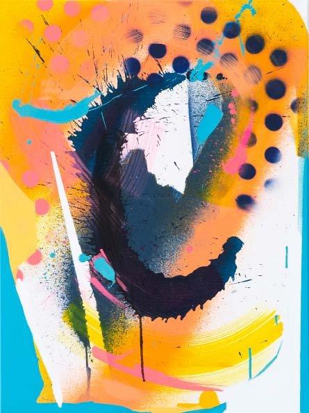 Julia Benz | Cutout II –2020, 80 x 60 cm, Acryl, Tinte, Sprühfarbe auf Leinwand