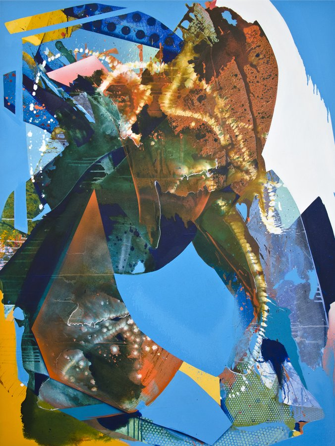Julia Benz | Nostalgia – Acryl, Tinte, Sprühfarbe auf Leinwand, 160cm x 120 cm, 2020