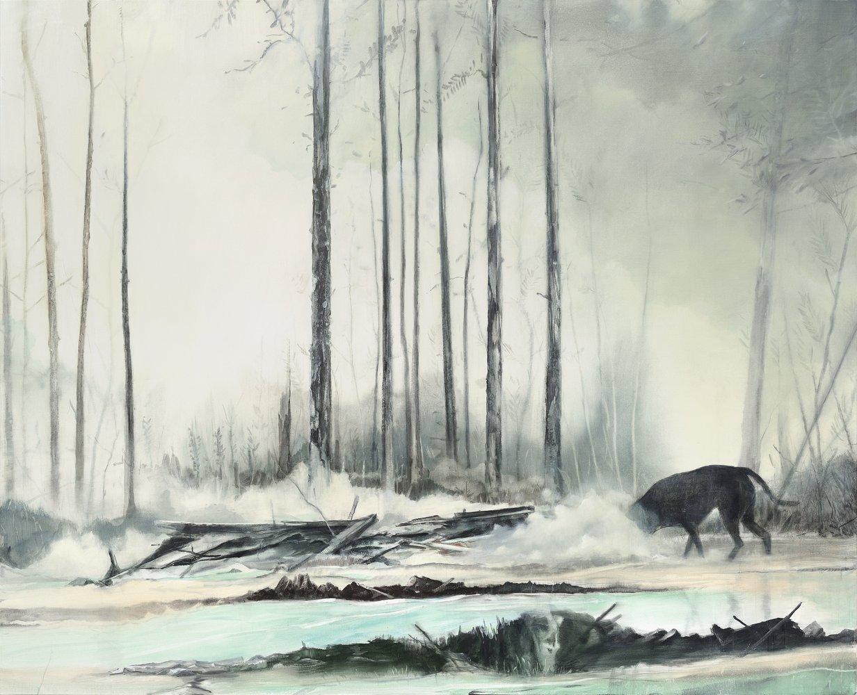 Thomas Ritz | OT – 245 x 200 cm – 2020, Pigment, Acrylharz / Lw, Kat-Nr. 2020-1011
