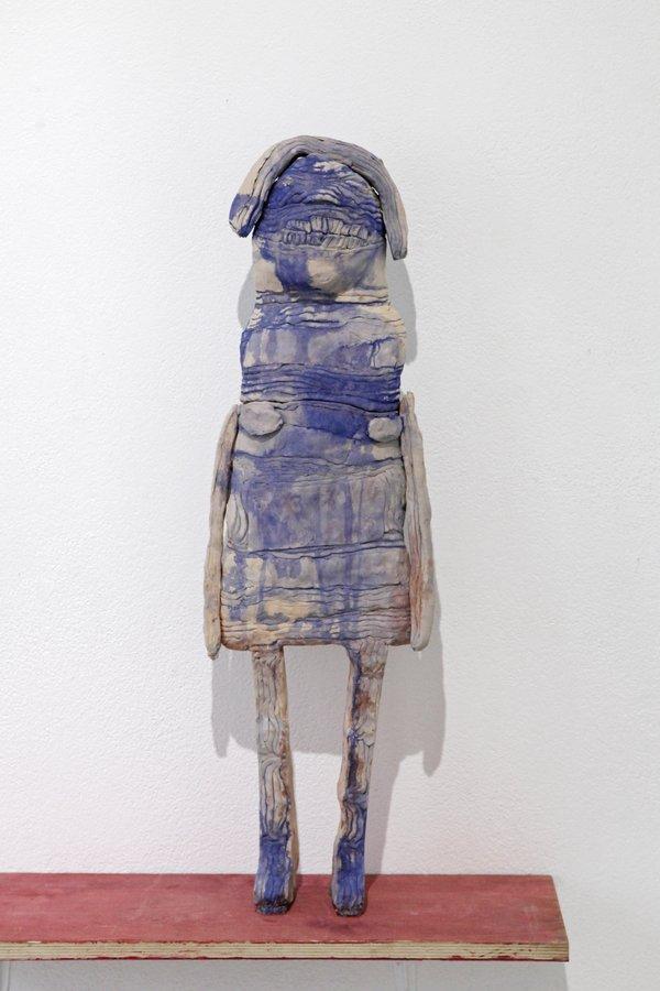 Tante – zweiteilige Keramik, ca. 72 x 22 cm, 2018