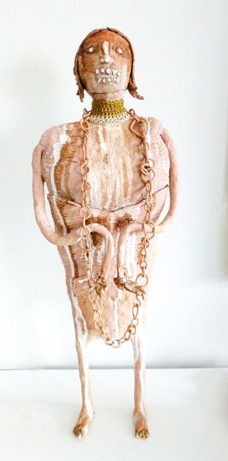Kragenechse – 3-teilig, Keramik, Höhe 67 cm, 2019