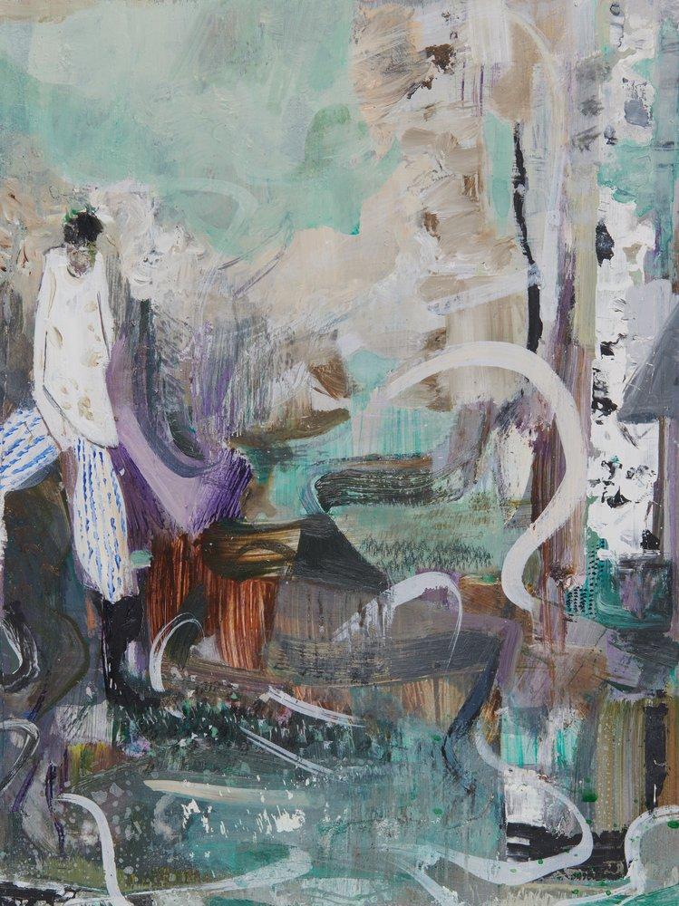 Kevin A. Rausch | Wake Up – 2018, 40 x 30 cm, Öl, Acryl auf Holz