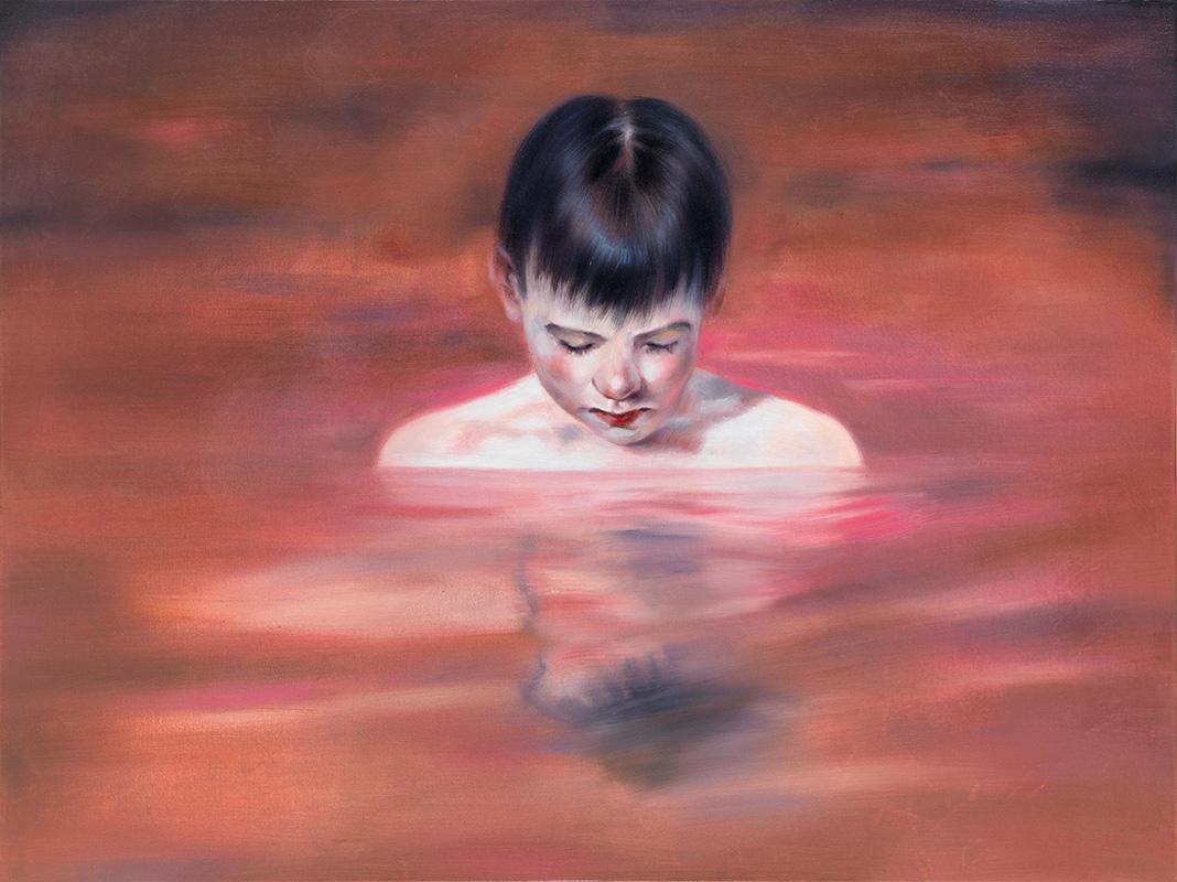 Simone Haack – Pink Waters, 2019, 90 x 120 cm, Öl auf Baumwolle