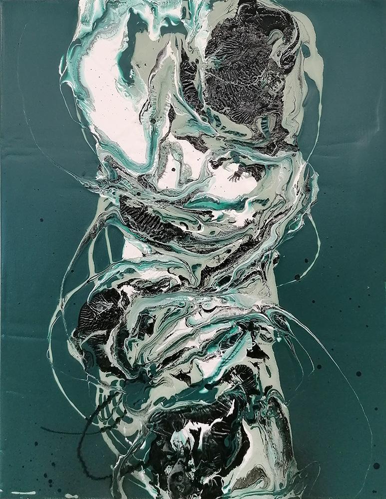 David Stegmann | O.T. – 2021, 44 x 33 cm, Acryllack, Acrylharzlack auf Leinwand
