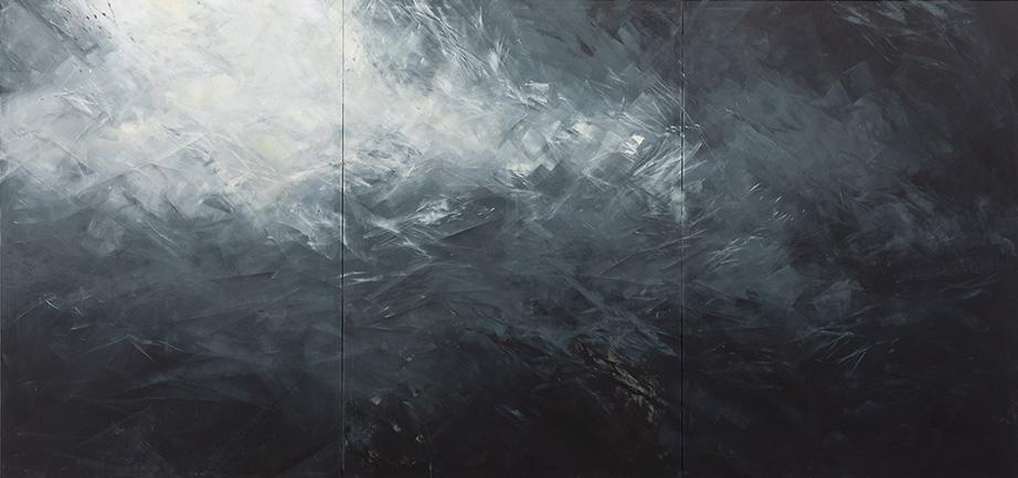 David Stegmann | O.T. – 2021, 200 x 420 cm, Acryl, Acryllack auf Leinwand