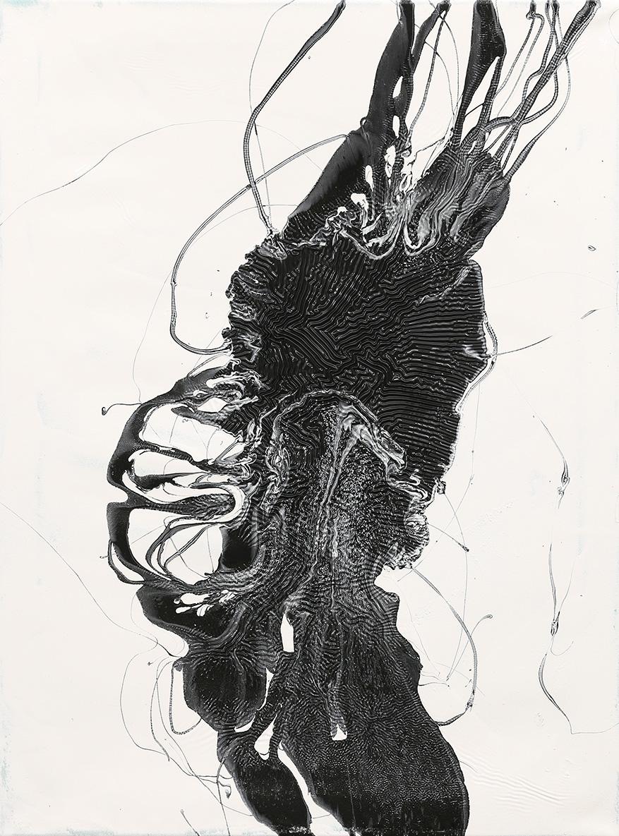 80x60 cm Acryllack, Acrylharzlack auf Leinwand -Privatsammlung