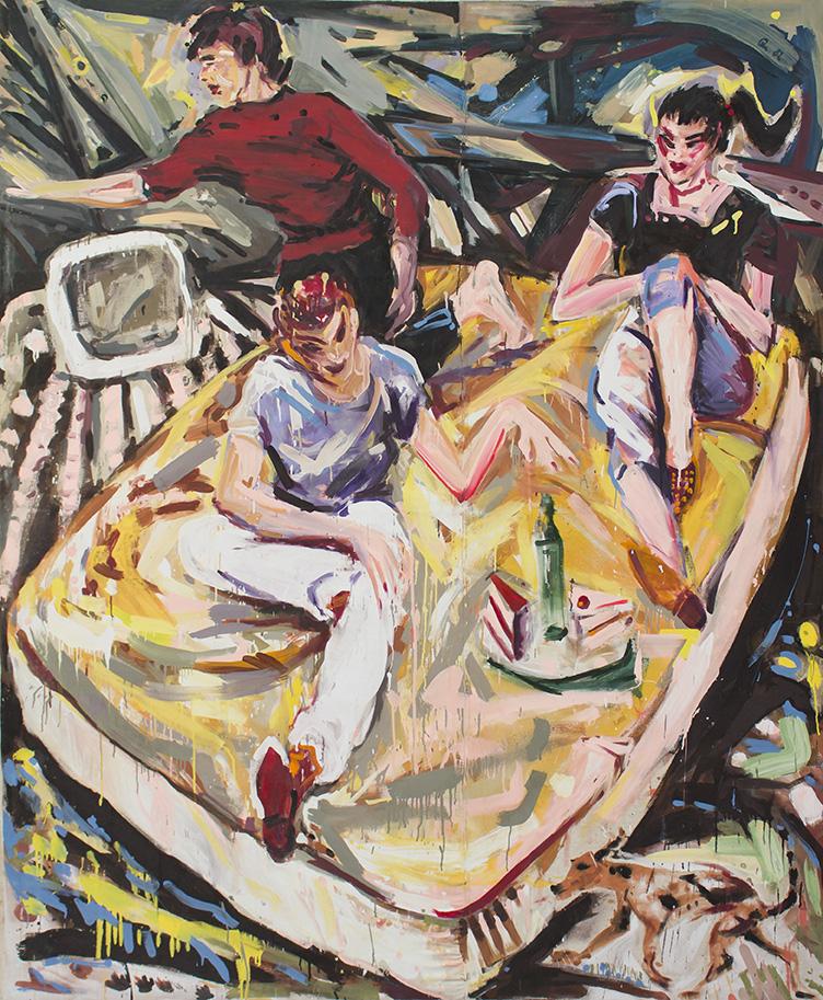 Barbara Quandt | Sunday Afternoon, 1982-23, 240 x 200 cm, Acryl auf Dropcloth